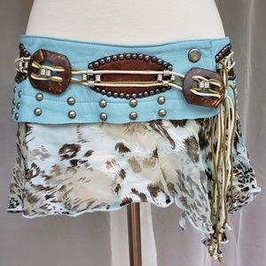 Unique and rare silk belt by Marisa K